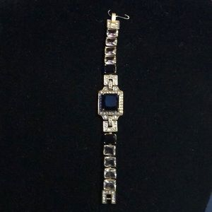 Jcrew black and crystal bracelet